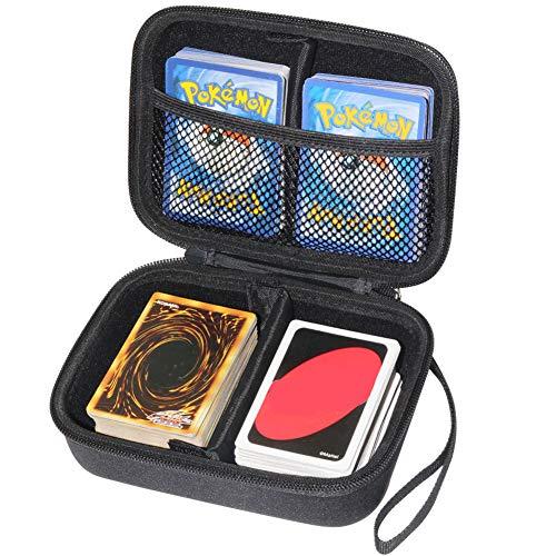 Yosuny Hard Compatible Case für Pokemon-Sammelkarten. Hält bis zu 400 Karten Spielegestell mit herausnehmbarer Trennwand (Schwarz)