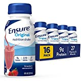 Ensure Original Nutrition Shake With 9g of Protein, Meal Replacement Shakes, Strawberry, 8 fl oz, 16 Count from Ensure