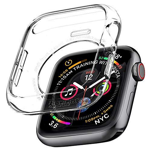 Spigen [Liquid Crystal Compatibel met Apple Watch Series 4 44mm Case [Crystal Clear] Transparent TPU Siliconen Case Ultra Thin Transparante Case Flex Case krasbestendig Cover (062CS24473)