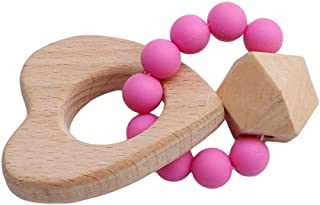 Anniston Kids Toys, Wooden Baby Bracelet Bear Cloud Moon Animal Shaped Jewelry Teething Rattle Toys Baby Toys for Children...