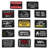 Wlkq 14Pcs Tactical Patches Morale Tactical Military Hook and Loop Patches Perfect for Hats,Caps,Bags,Jackets,Backpacks,Military,Airsoft,Cosplay,CS,Tactical Exercise (wanppen-51)