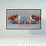 Robot Family Nursery Divertidos carteles e impresiones Pintura sobre lienzo Cuadros finos Imagen para habitación de niños Decoración para el hogar 50X70cm