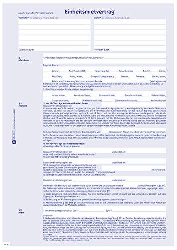 Avery Zweckform 2849 Kaufverträge und Mietverträge Mietvertrag A4 mit Hausordnung