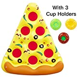 Acekid Inflatable Pizza Pool Float,6 x 5 Feet Giant Swimming Pool Rafts,Outdoor Swimming Party Floatie Lounge Toy for Kids and Adults