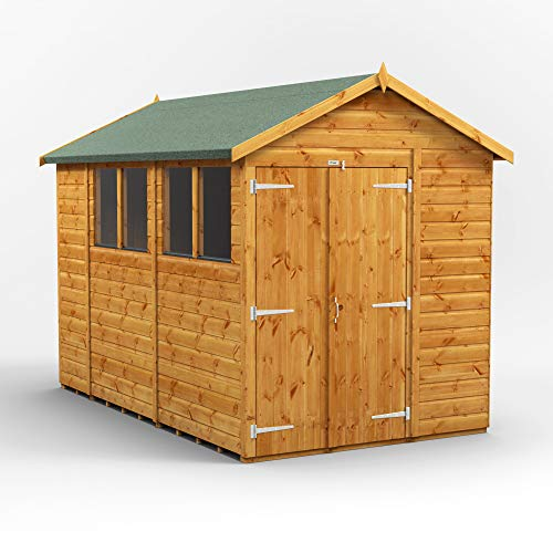 POWER | 10x6 Double Door Apex Wooden Garden Shed | Size 10 x 6 | Super Fast Delivery or Pick your own day