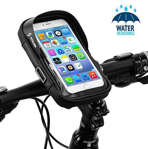 runhua Borse Manubrio per Bicicletta, Cellulare Custodia per Bici Moto Impermeabile con 360° Rotazione, Porta Cellulare Bici per Telefoni sotto 6.7 Pollici, iPhone X 8 7 6 Plus Samsung Galaxy S8 S7