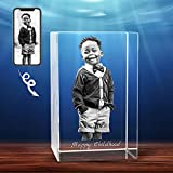 3D Crystal Photo, Personalized Gift With Your Own Photo, Unique Father's Day Gift, Marriage Gift, Memorial Present-Small Portrait