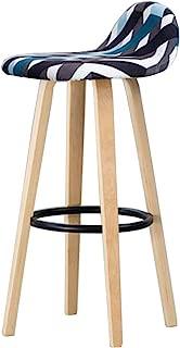 NMDB DLDL Bois Massif Bar Chaise Moderne Simple Tabouret Haut Fer Chaise Fer Menage Caissier Bar Tabouret  Couleur  2