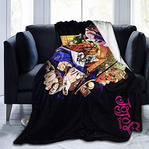 Wuyuzi8l Jo's Bizarre Adventure Manta Super Suave de Franela Felpa Peluquera, Ligero, Caliente, Transpirable, Cómoda, para Parejas y Familias de 156 x 150 cm