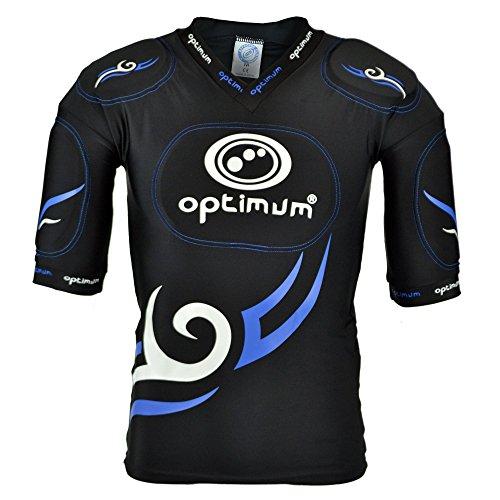 OPTIMUM Top Protettivo Tribale Senior, Nero/Blu, X-Large Unisex-Adult, Black/Blue