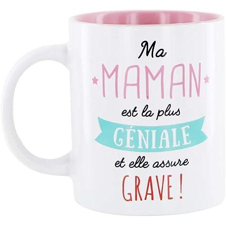 DITES LE AVEC DES MOTS MO0555 Mug Maman M12 Céramique Rose 12 x 8,20 x 9,70 cm
