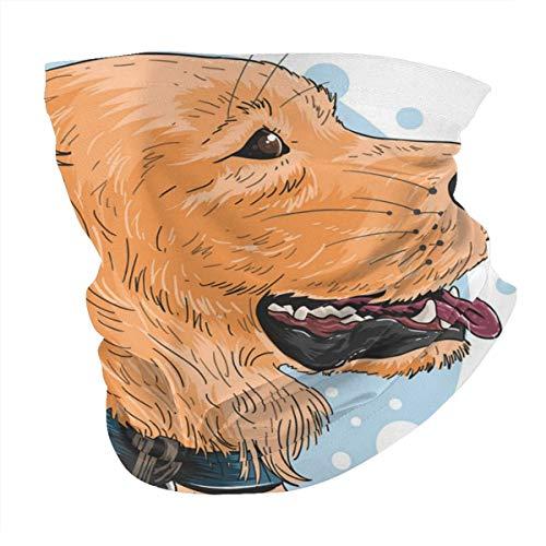 Diverse Kopftuch, personalisierbar, Outdoor-Stirnband, Sport-Kopfbedeckung, Hund, niedliches goldenes Kunstwerk