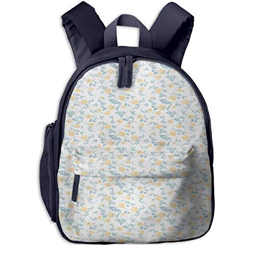 Kinderrucksack Kleinkind Jungen Mädchen Kindergartentasche Blühendes Romantisches Rosenlaub Backpack Schultasche Rucksack