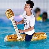 Emoshayoga Juguetes para Deportes acuáticos, Juego de Flotador para Piscina, Juego de Flotador para Montar en Filas, Juego de Piscina Inflable, 4 unids/Set, Piscina