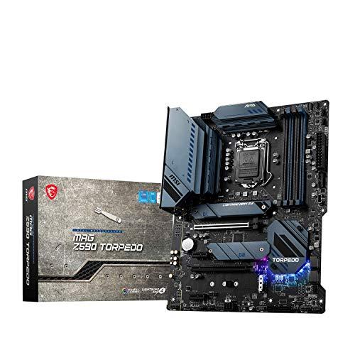 MSI MAG Z590 TORPEDO Scheda Madre gaming ATX - Supporta processori Intel Core di 11th Gen, Mystic Light, 60A VRM, DDR4 Boost (5333MHz/OC), 1x PCIe 4.0 x16, 3x M.2 Gen4/3 x4, 2.5G + 1G LAN