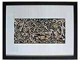Enmarcado y montado abadejo, niebla nocturna por Jackson Pollock - 20' x 16' - Parte de la cartera Taschen lanzado en 2006