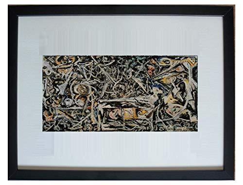 Enmarcado y montado abadejo, niebla nocturna por Jackson Pollock - 20