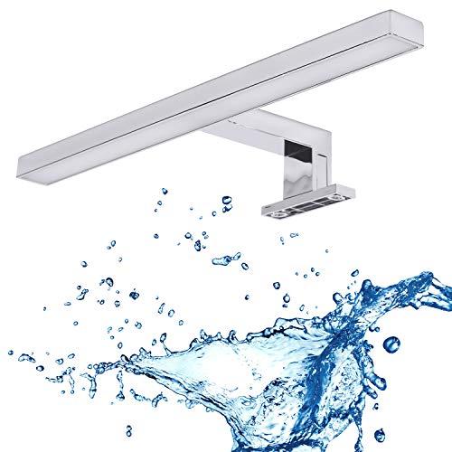 Lampada da specchio a LED, lampada da bagno, luce da bagno, lampada da incasso per armadio, luce a morsetto, luce bianca neutra, 230 V, 325 lm, IP44, 30 cm, 5 W