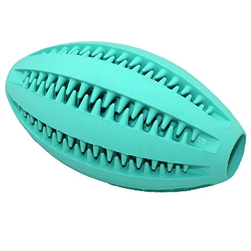DUBENS Hund Rugbyball, Hundespielzeug Ball, Dog Toys, Spielzeug für Hunde, Hund Fußball Hundespielzeug, Langlebiger Kauspielzeug für Hundespielball Zur Zahnpflege