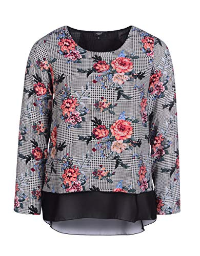 Bexleys Woman by Adler Mode Damen Bluse Druck schwarz/weiß/pink 46