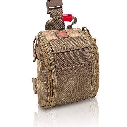Elite Bags - Fast´S, Botiquín Individual Pernera con Sistema Molle (Marron Coyote)