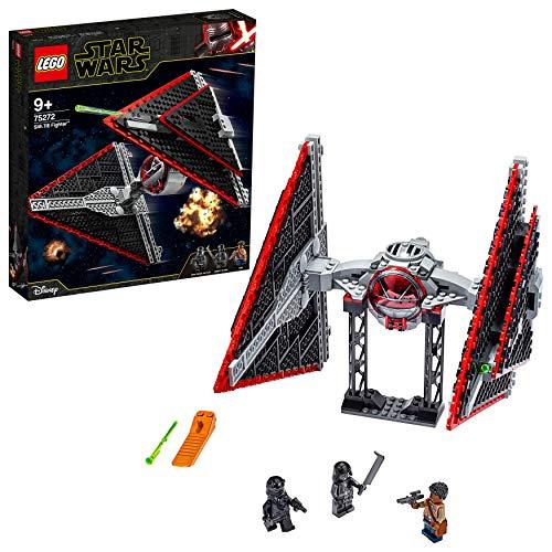 LEGO Star Wars - Caza TIE Sith, Maqueta para Montar un Set Inspirado en la Guerra de las Galaxias una Esperanza, Incluye Soporte para Exponer, Juguete de Construcción a Partir de 9 Años (75272)