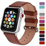 Fullmosa Klassische Litichi Leder Watch Armband Kompatibel fr Apple Watch Series 5/4/3/2/1, 12...