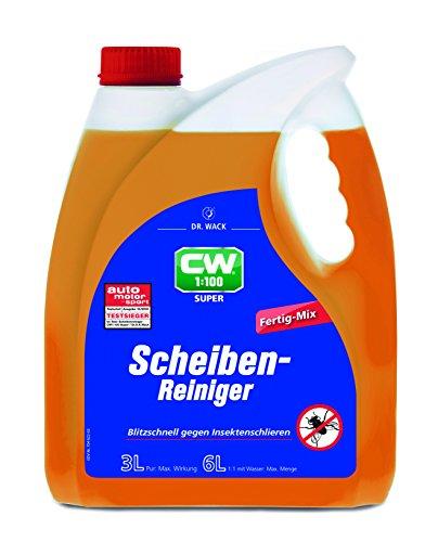 Dr. Wack – CW1:100 Super Scheibenreiniger Fertig-Mix 3 L I Premium Scheibenreiniger für alle Scheibenwaschanlagen & Scheinwerfer-Reinigungsanlagen I Hochwertige Autopflege – Made in Germany