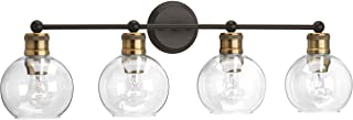 Progress Lighting P300052-020 Hansford Four-light bath & vanity, Antique Bronze