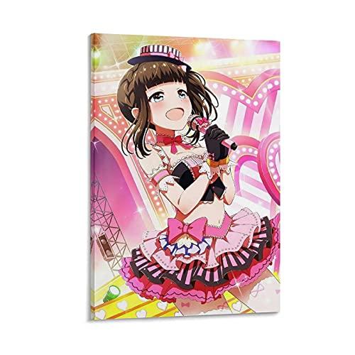 HAPPOW Póster de anime de Battle Girl High School en lienzo y arte de la pared, impresión moderna para dormitorio familiar de 50 x 75 cm
