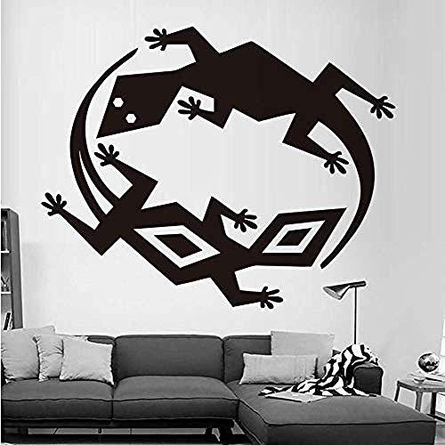 Jhping muursticker muursticker twee verschillende hagedissen muurstickers PVC verwijderbare muursticker doe-het-zelf slaapkamer zelfklevend behang kunst ontwerp huisdecoratie 35 * 44Cm
