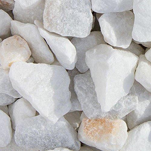 Marmor Weiss Ziersplitt 500kg Big Bag 9-12mm, 15-25mm und 25-40mm (25-40mm)