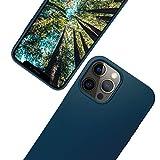 eplanita Eco - Funda para iPhone 12 Mini, fibra vegetal biodegradable y TPU suave, protección contra caídas, respetuosa con el medio ambiente, cero residuos (iPhone 12 Mini, azul oscuro)