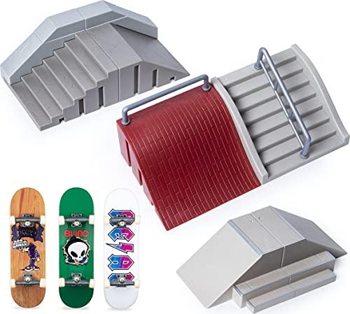 Tech Deck 6053964 Ultimate Street Spots Pack mit 3 komplett montierten exklusiven Boards, Coast Edition