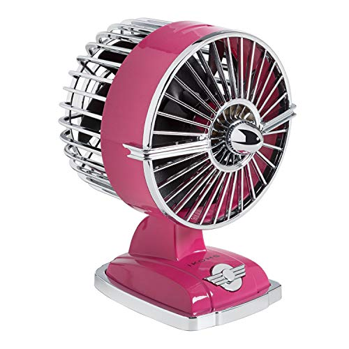 IKOHS Retro Jet Fan Mini - Ventilator mit Aroma Verteiler USB (Rosa Pink -A)