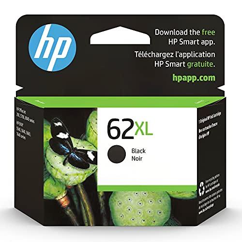 HP 62XL | Ink Cartridge | Works with HP ENVY 5500 Series, 5600 Series, 7600 Series, HP Officejet 200, 250, 258, 5700 Series, 8040 | Black | C2P05AN