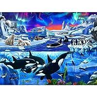 フルスクエアドリル5DDIYダイヤモンドペインティングクジラ刺繡モザイククロスステッチラインストーン装飾