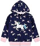 Baby Girl Jacket Unicorn Zip Hoodie Cute Sweatshirts Toddler Winter Coat Outwear Unicorn Shirt Winter Jackets 5t / 120