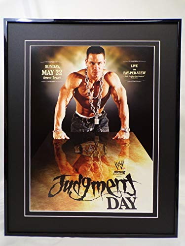 2005 WWE Judgment Day I Quit John Cena 16x20 Framed Insight Poster Display