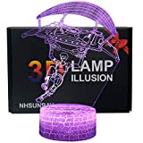 Ray-Velocity 3D Illusion Lampe 7 couleurs Changement Optique Tactile Lumière USB et Télécommande Art Déco Faites Une Ambiance Romantique cadeau d'anniversaire de Noël Saint Valentin (Parachutisme)
