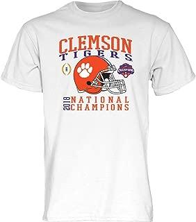 Clemson Tigers National Champs Tshirt 2018-2019 White Helmet