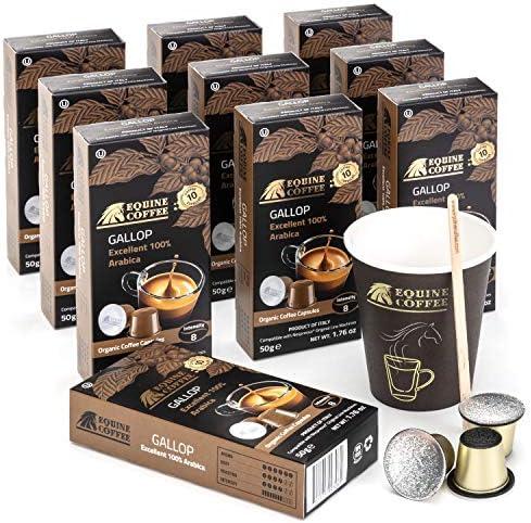 Equine Coffee Pods for Nespresso Original 100 Pack Italian Nespresso Compatible Capsules Coffee product image
