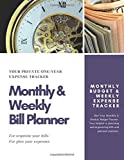 Monthly & Weekly Bill Planner / One-Year Organizer Log Book / Extra Large 8.5 x 11 in - 146 Pages: Personalized Monthly Budget & Weekly Expense ... Planning Budget Journal / Classic (Deluxe)