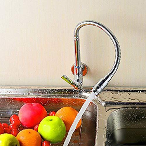 Inchant Girevole da 360 Gradi a Tubo Singolo Rubinetto Finitura cromata Water Power Kitchen Sink Fredda l'acqua del Rubinetto Rubinetti Singola Maniglia Parete