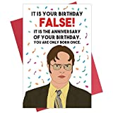 Funny Birthday Card, The Office Birthday Card, Dwight Schrute Birthday Card for Him Her
