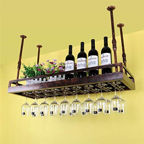 Bandeja de almacenamiento Techo estanterías de vino montado en la pared Cuelga de la botella de vino Titular de la botella de vino de metal de hierro de vino Rack de copa de copa de tambores de tambor