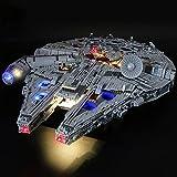ADMLZQQ Kit De Iluminación Led para Lego Star Wars Halcón Milenario Ultimate, Compatible con Ladrillos De Construcción Lego Modelo 75192(NO Incluido El Modelo)