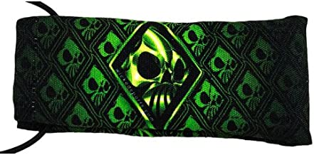 Wicked Sports Paintball Barrel Cover/Sock - Wicked Skulls - Green