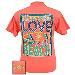 Girlie Girls All You Need is Love Beach Preppy Short Sleeve T-Shirt