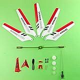 CYNDIE Helikopter, Vollen Satz Ersatzteile für Syma S107 RC , Hauptklingen, Hauptwelle, Schwanz Dekorationen, Schwanzstützen, Balance Bar, Getriebe Set, Connect Buckle-Red Set- -